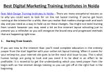 best digital marketing training institutes