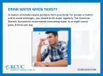 drink water when thirsty urination eliminates