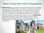 adam umerji real estate management 1
