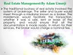 real estate management by adam umerji