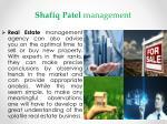 shafiq patel management