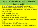king air ambulance service in delhi with doctors facility