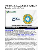 sap hana training in noida sap hana training institute in noida