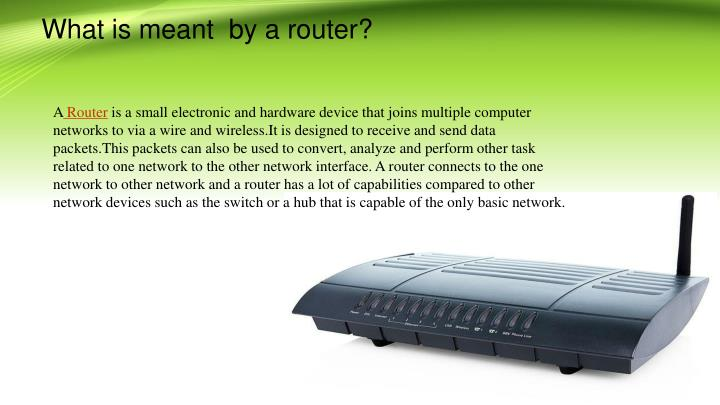what is meant by a router n.