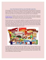 facts that nobody told you about monthly candy