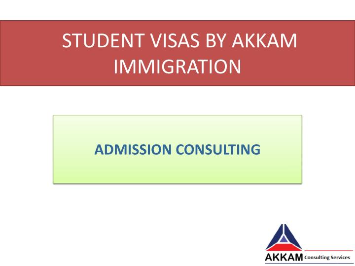 student visas by akkam immigration n.