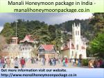 manali honeymoon package in india manalihoneymoonpackage co in
