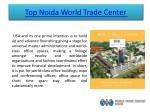 top noida world trade center 1