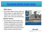 top noida world trade center 5