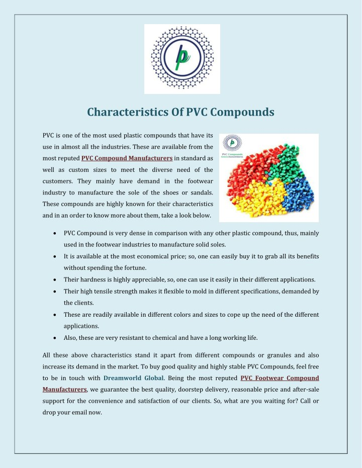 characteristics of pvc compounds n.