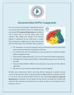 characteristics of pvc compounds