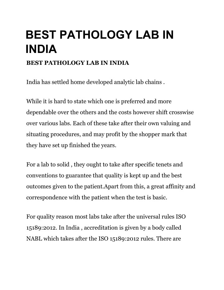 best pathology lab in india n.
