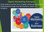 digital marketing e xamples