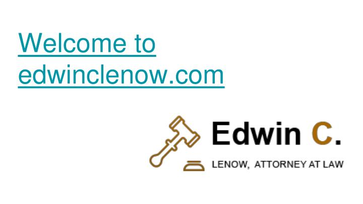 welcome to edwinclenow com n.