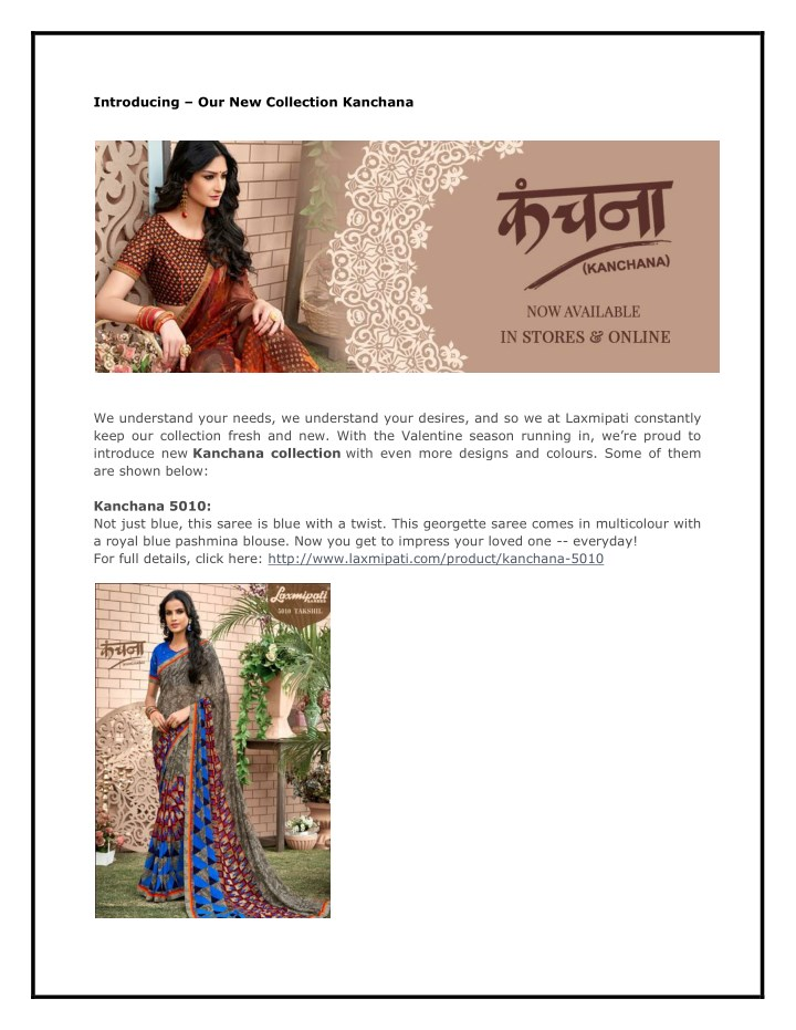 introducing our new collection kanchana n.