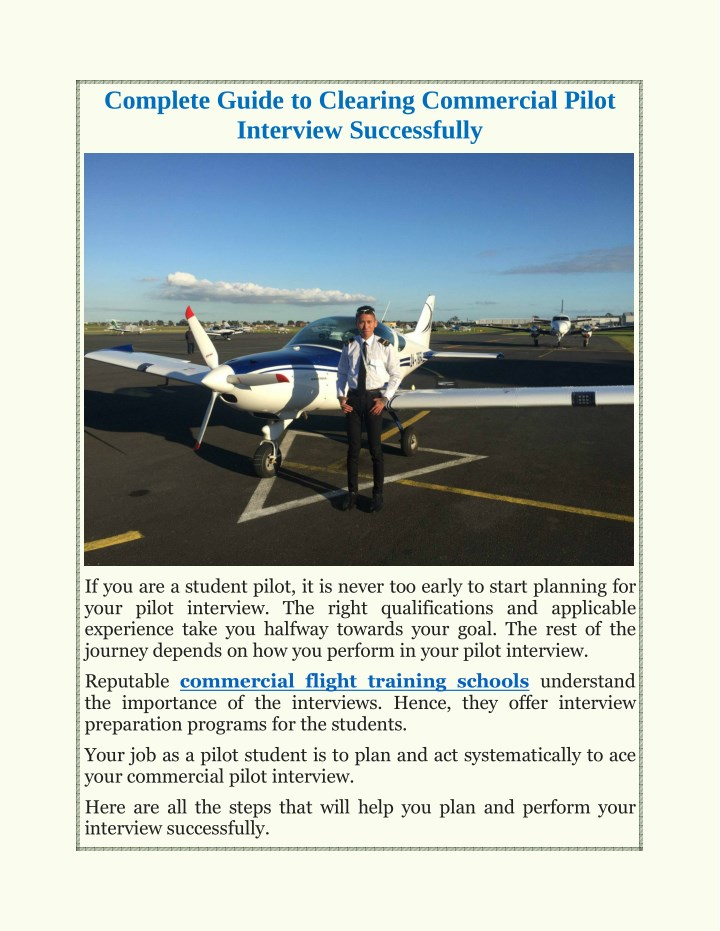 complete guide to clearing commercial pilot n.