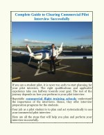 complete guide to clearing commercial pilot