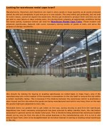 looking for warehouse rental cape town