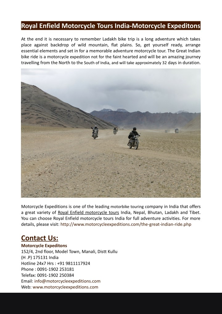 royal enfield motorcycle tours india motorcycle n.