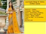 laxmipati beige yellow chiffon saree