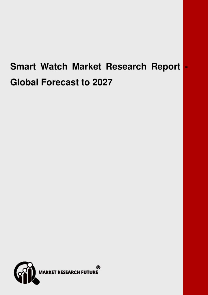 smart watch market research report global n.