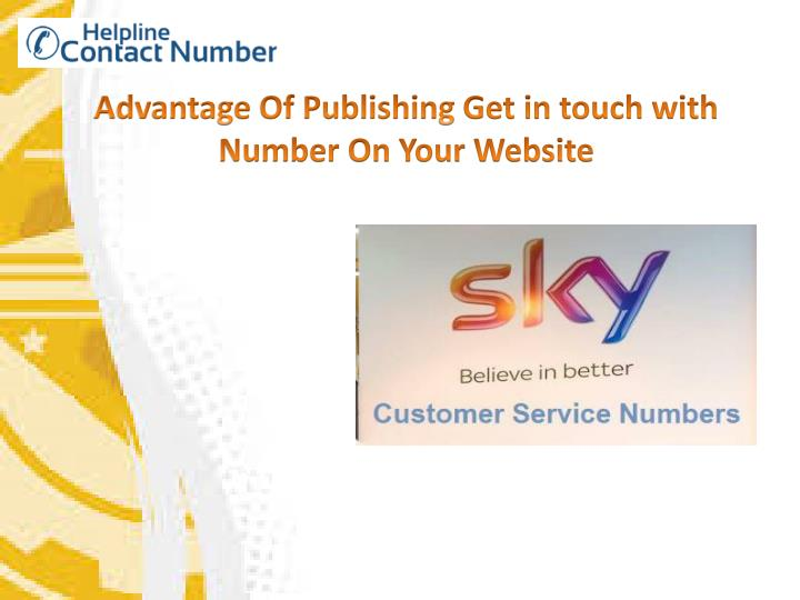 advantage of publishing get in touch with number n.