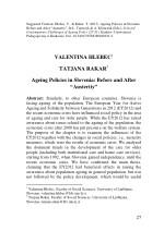 suggested citation hlebec v rakar t 2017 ageing