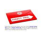finding direct mail and email prospects