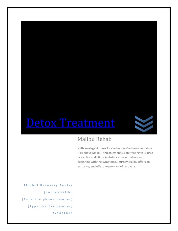 detox treatment n.