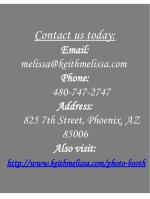contact us today email melissa@keithmelissa