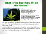 what is the best cbd oil on the market