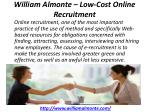 william almonte low cost online recruitment 1