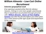 william almonte low cost online recruitment 2