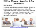 william almonte low cost online recruitment 3