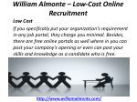 william almonte low cost online recruitment 4