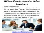 william almonte low cost online recruitment 5