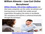 william almonte low cost online recruitment 6