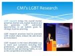 cmi s lgbt research