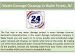 water damage cleanup in wake forest nc