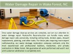 water damage repair in wake forest nc