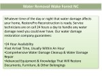 water removal wake forest nc 1