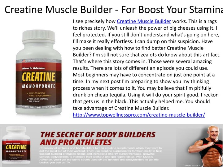 creatine muscle builder for boost your stamina n.