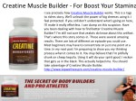 creatine muscle builder for boost your stamina
