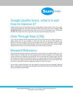 google quality score what