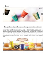 best quality of disposable paper coffee cups
