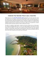 celebrate your bachelor party in jaco costa rica