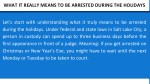 what it really means to be arrested during