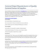 carnival depot manufacturers of quality carnival