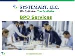 systemart llc we optimize you capitalize bpo services