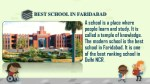 best school in faridabad